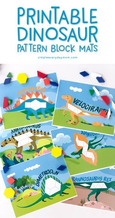 Free dinosaur pattern block templates letter d activities toddler printable dinosaur pattern block mats introduce basic math concepts and skills with this dinosaur activity spiritdancerdesigns Image collections
