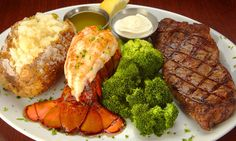 Steak and Lobster - This is what we call Surf and Turf....