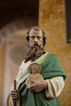 """St. Jude ~ The Apostle Saint Jude Thaddeus is """"The Miraculous Saint,"""" the Catholic Patron Saint of """"lost causes"""" and """"cases despaired of.""""When all other avenues are closed, he is the one to call upon, and his help often comes at the last moment. Feast Day, October 28th."""