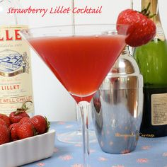 Spring is in the air!  Almost time for some of these! Strawberry Lillet Cocktails