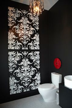 Modern Home Wallpaper Design Ideas Pictures Remodel And Decor Page 61 Bathroom Canvas Artdamask