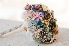 brooch bouquet-- my cousin's fiance is doing this! i've been trying to picture how it would look, i really  like this!