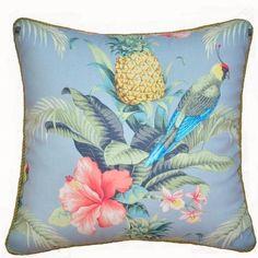 Hibiscus indoor or outdoor cushion | hardtofind.