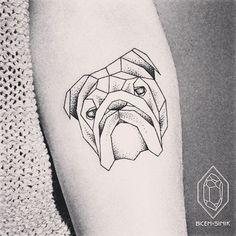 """For Bulldog lovers! #bulldog #tattoo #bulldoglover #bulldogloverclub #bicemsinik "" Photo taken by @tattooismm on Instagram, pinned via the InstaPin iOS App! http://www.instapinapp.com (04/24/2016)"