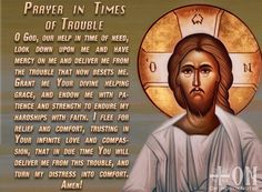 Prayer in time of trouble