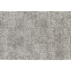 Black and white rug.