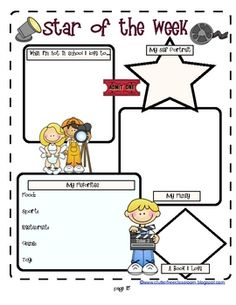 Star student ideas on pinterest star students student for Star of the week poster template