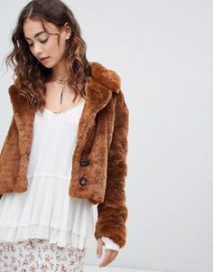 ac52ce097351 Free People Mena faux fur coat