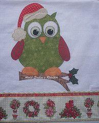Coleo NATAL 2013 (*Sonhos e Retalhos Ateli*) Tags: natal coruja colagem patch patchwork decorao cozinha chistmas tecido bordado costura patchcolagem panodecopa apliqu corujanatalina