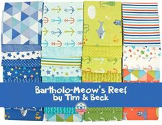 Bartolo - meows reef fabric. Really cute for a boy quilt