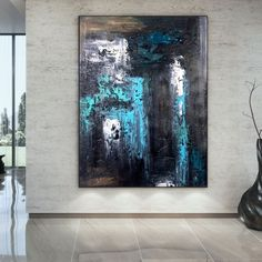 Large Abstract Wall Art, Large Painting, Oil Painting On Canvas, Knife Painting, Canvas Paintings, Your Paintings, Modern Wall Art, Contemporary Art, Modern Decor