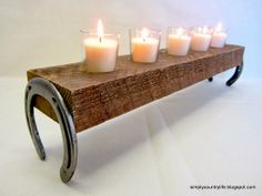 Simply Country Life: Horseshoes and a Chunk of Wood get a New Life