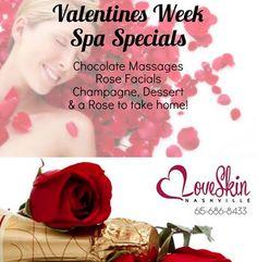 Great Valentine's Day specials at LoveSkinNashville here in Berry Hill!