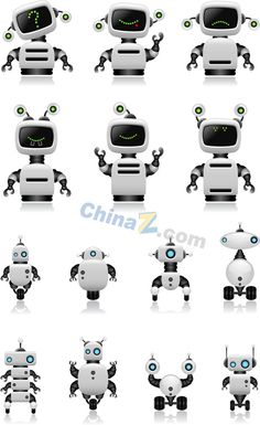 Intelligent robot design vector material