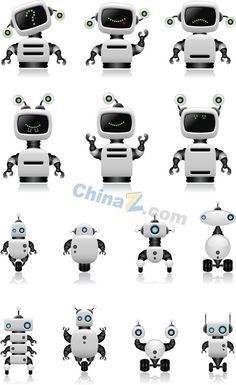 Intelligent robot design vector material
