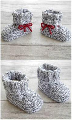 Babyschuhe zum Stricken und super für Wollreste - Strickanleitung via Makerist.de
