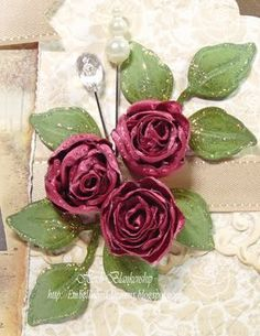 Ribbon Rose Tutorial - this is a great tutorial, and wow, love the final product.