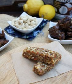 Raw fruit and nut bars!