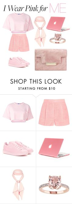 """i wear pink for me"" by beautysun ❤ liked on Polyvore featuring Steve J & Yoni P, STELLA McCARTNEY, adidas Originals, River Island and IWearPinkFor"