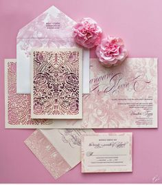 Laser cutting inspiration on pinterest laser cut for Laser cut wedding invitations houston