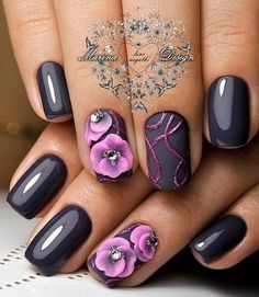 Ideas de manicura en tonos lila... Impresionante!!