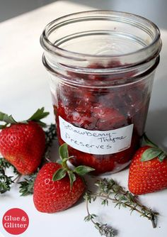 Strawberry Thyme Preserves: Quick Stove Top Strawberry Jam Recipe ...
