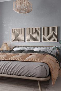 Home Bedroom, Master Bedroom, Bedroom Decor, Wood Bedroom Wall, Bedrooms, Wooden Wall Art, Wooden Walls, Wooden Wall Design, Wooden Wall Panels