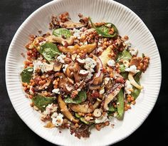 Mushroom grain bowl