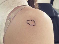 Cute cloud tattoo