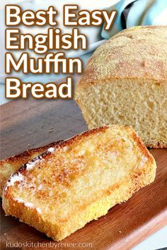 English muffin bread is everything you love about English muffins but in loaf form. This easy and delicious bread will soon become a breakfast staple! #yeastbread #englishmuffins #englishmuffinbread #breakfastbread #breakfast #brunch #kudoskitchenrecipes English Muffin Bread, Homemade English Muffins, English Muffin Breakfast, Bread Bun, Easy Bread, Bread Rolls, Pain Muffin Anglais, Best Bread Recipe, Bread Machine Recipes