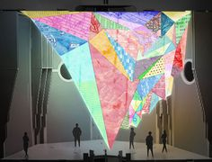 London Design Festival - Created by digital artist Keiichi Matsuda, Prism re-appropriates London's various streams of information, including economics statistics and transport data, and turns them into a digital, sculptural installation.