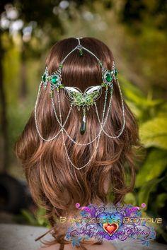 Arwen Butterfly Circlet handmade OOAK by BlingGoddessBoutique