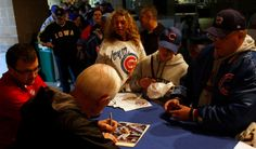 Joe Rudi take time to sign some autographs before and Iowa Cubs home game Iowa Cubs, Wrestling, Sign, Game, Lucha Libre, Venison, Games, Signs