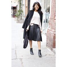 Rebecca Taylor Pleated Vegan Leather Skirt #rebeccataylor