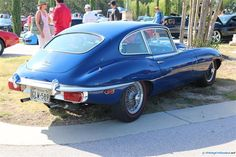 Jaguar E Type 4.2. As seen at the August 2014 Cars and Coffee event in Austin TX USA.