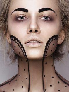 #sickly #avantgarde #avant #garde #fashion #bruise #tired #makeup #mascaraless