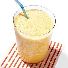 Orange Smoothie!!!! - 1 orange, 1 cup ice cubes, 1/2 cup almond milk, 1 tsp honey, 1/2 tsp vanjlla