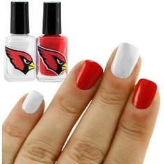 Arizona Cardinals Cardinal-White 2-Pack Nail Polish