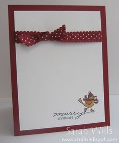 Simple Two Layer Christmas Card by sarahsinkspot - Cards and Paper Crafts at Splitcoaststampers