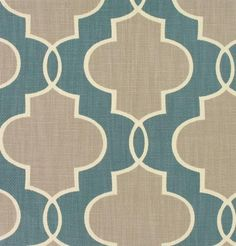 Pair of Custom Curtains or Drapes, 50 x 84 inches at this price, any size available, modern design, P. Kaufmann Luca in teal. $220.00, via Etsy.