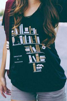Education is freedom shirt