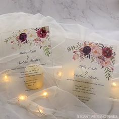 EWI Clear Acrylic Wedding Invitations Each card will ship with plastic film to prevent wear and tear Wedding Card Design, Wedding Invitation Design, Wedding Cards, Diy Wedding, Wedding Events, Wedding Gifts, Wedding Day, Wedding Beach, Weddings