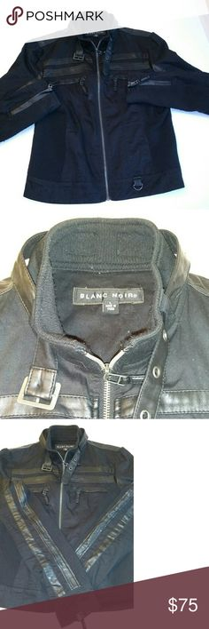 Woman's moto jacket Blanc Noir Moto jacket good condition very well taken care of blanc noir Jackets & Coats
