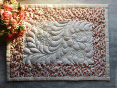 Купить Декоративная сервировочная салфетка для кухни - бежевый, комбинированный, салфетка, салфетка декоративная, стеганая салфетка
