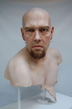 Jamie Salmon's hyper-realistic portrait sculptures exhibit.  >> They look so real!