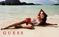 Model Natasha Barnard (IMG) features as summer bronzed beach goddess in the new GUESS Summer 2013 campaign. Photographed by Yu Tsai. American clothing line Guess Campaigns, Ad Campaigns, Guess Ads, Guess Girl, African Models, Beach Poses, Si Swimsuit, Victorias Secret Models, Teen Models