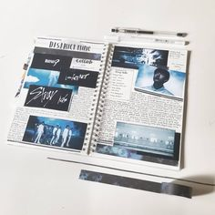 Okay so Stray Kids has finally just like killed me and so we decided to do a collab about getting into a new kpop group! Bullet Journal 2019, Bullet Journal Notes, Bullet Journal Layout, Bullet Journal Ideas Pages, Bullet Journal Inspiration, Art Journal Pages, Journal Prompts, Music Journal, Study Journal