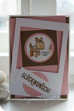 Rehkitz von Stampin´Up! Babykarte - Patricia Stich 2016