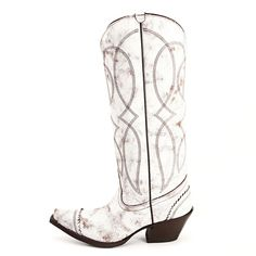 Tony Lama Vaquero White Cowgirl Boots