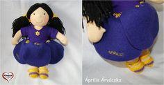 Április Árvácska #gleditadoll #medikaprojekt Anime Dolls, Waldorf Dolls, Hungary, Etsy Shop, Cartoon, Handmade, Amigurumi, Hand Made, Cartoons